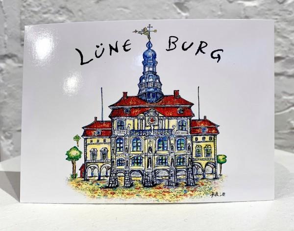 Postkarte Lüneburger Rathaus