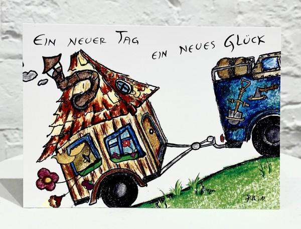 Postkarte -Ein Neuer Tag, Ein Neues Glück-