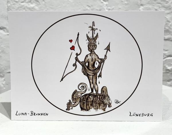 Postkarte Luna