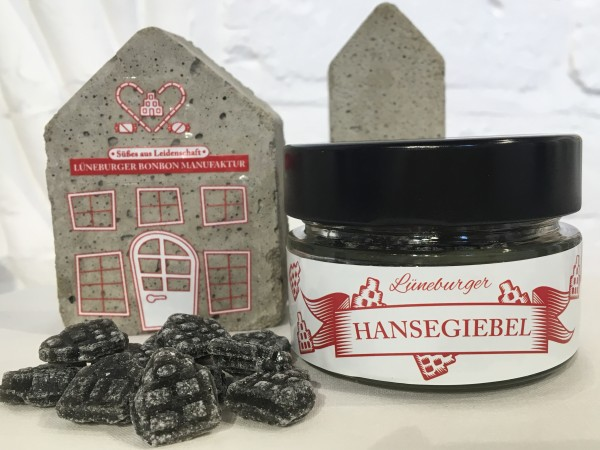 Lüneburger Hansegiebel - Salmiak, 100g. Glas