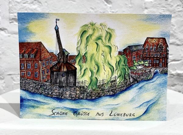 Postkarte -Schöne Grüße aus Lüneburg-